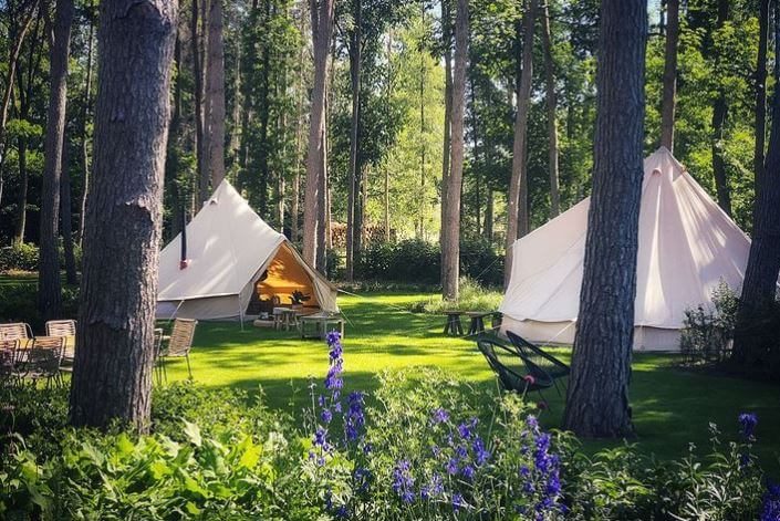 Canvas Tent With Stove
