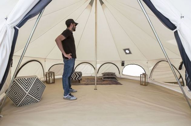 How To Spray Paint Canvas Tent