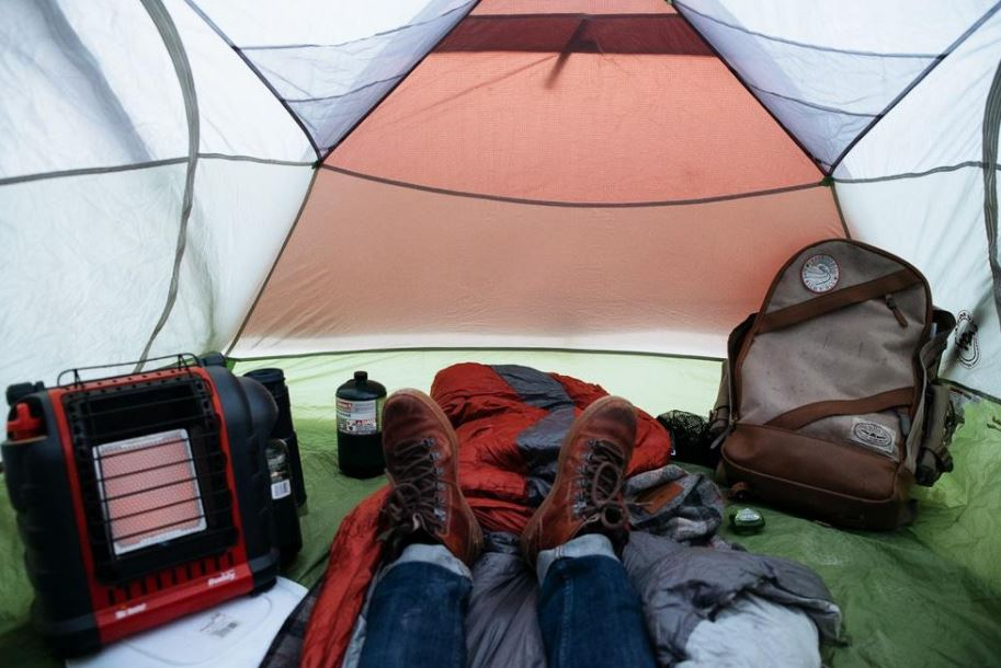 Using Buddy Heater In Tent